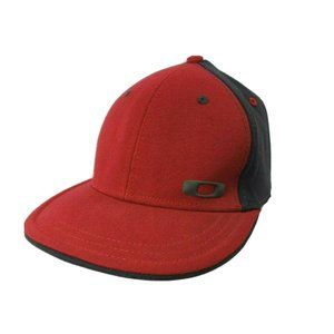 Oakley Fitted A-Flex Red Hat Cap